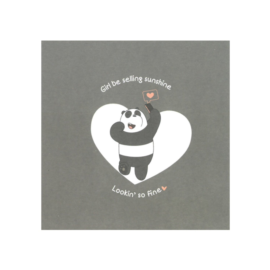 Looking So Fine Greeting Card - The Bare Bears