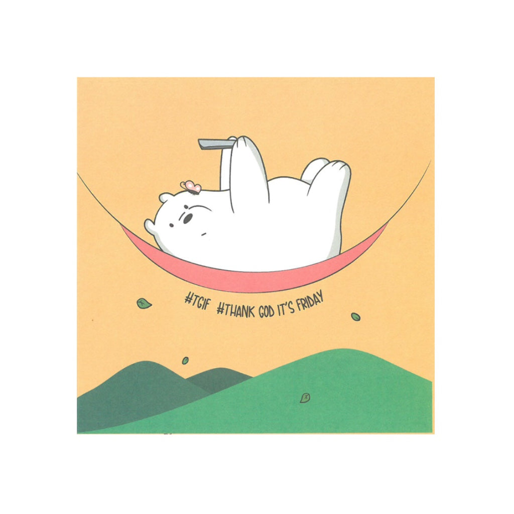 TGIF Greeting Card - The Bare Bears
