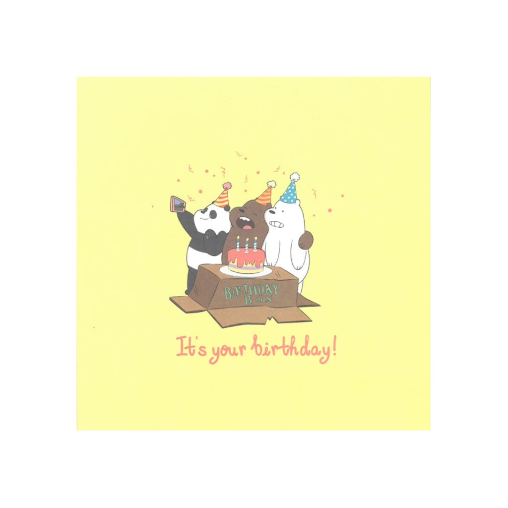 It's Your Birthday! Greeting Card - The Bare Bears