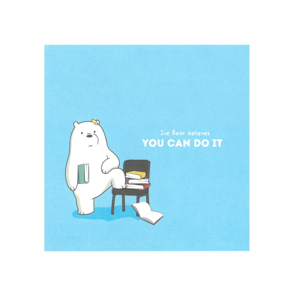 You Can Do It Greeting Card - The Bare Bears