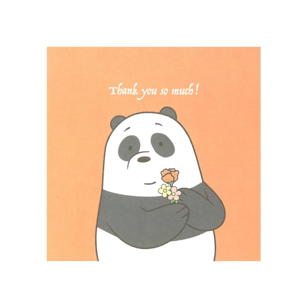 Thank You So Much! Greeting Card - The Bare Bears