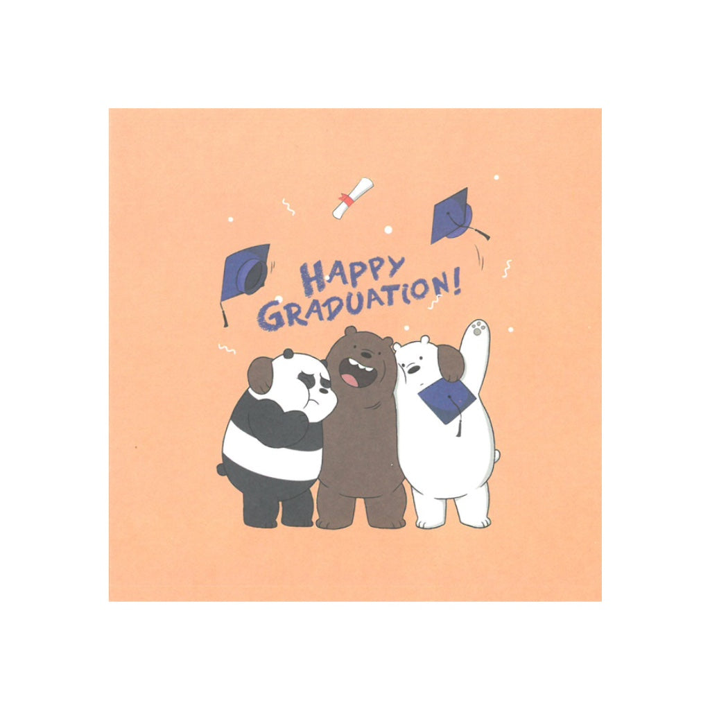 Happy Graduation! Greeting Card - The Bare Bears