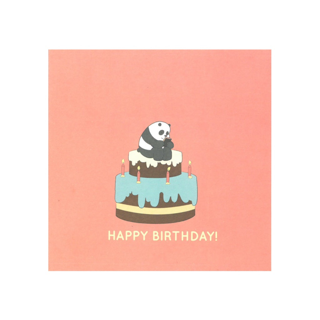Birthday Cake Greeting Card - The Bare Bears