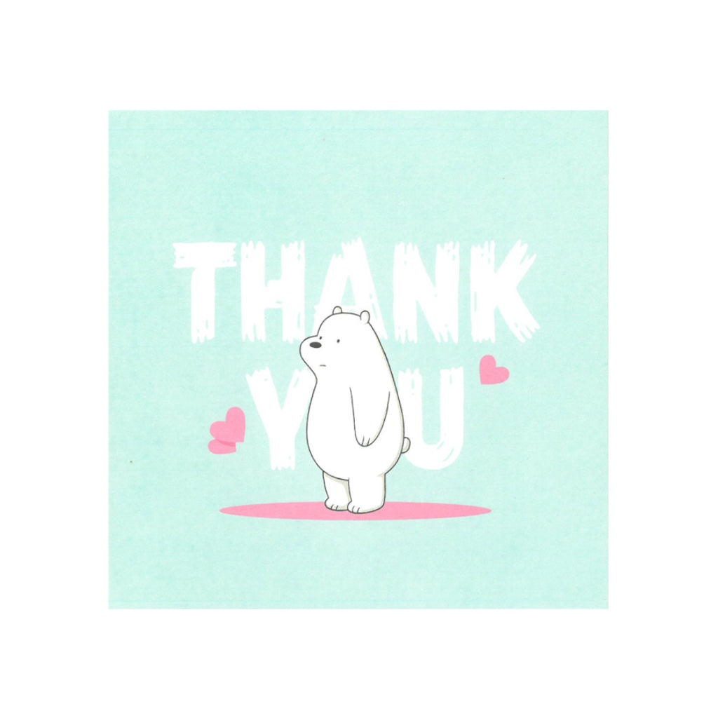 Ice Thank You Greeting Card - The Bare Bears