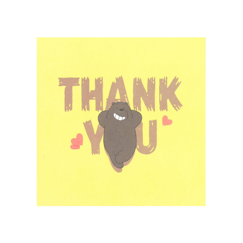 Grizzly Thank You Greeting Card - The Bare Bears
