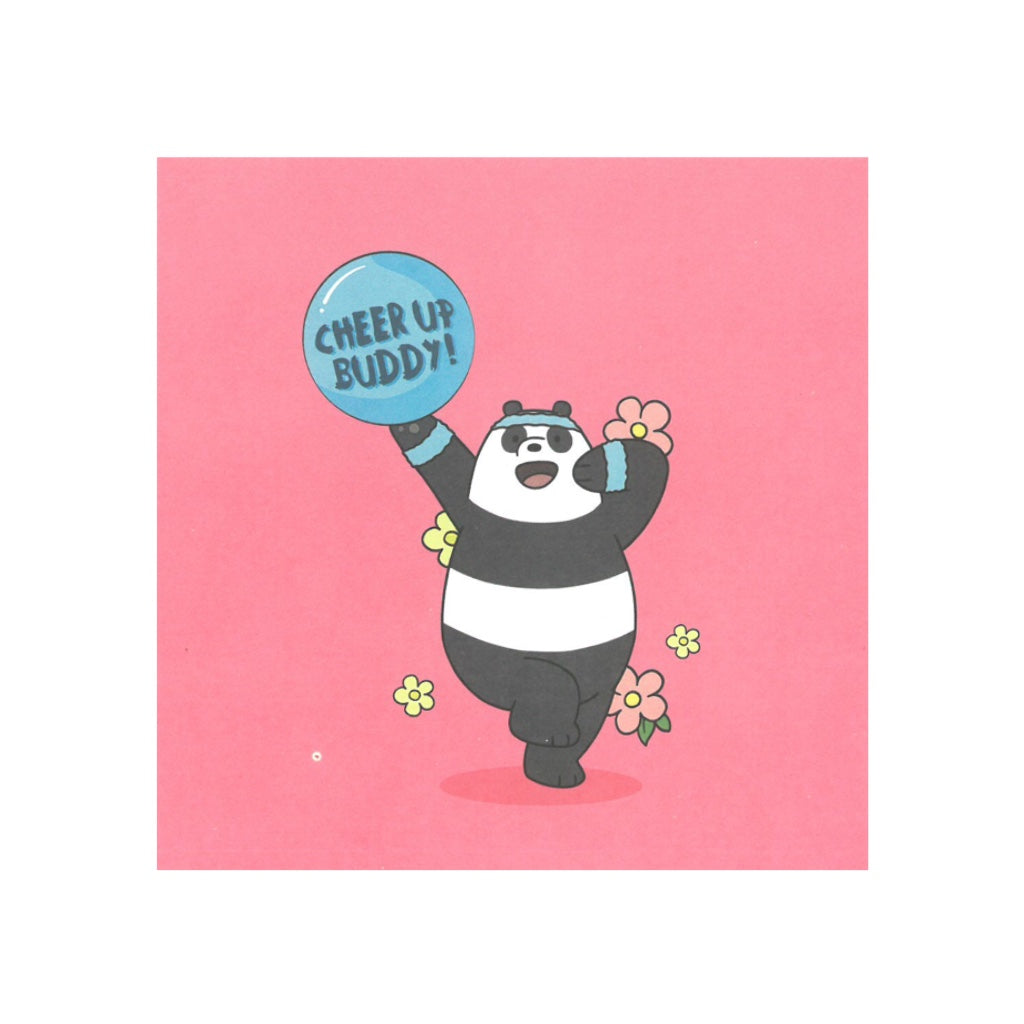 Cheer Up Buddy Greeting Card - The Bare Bears