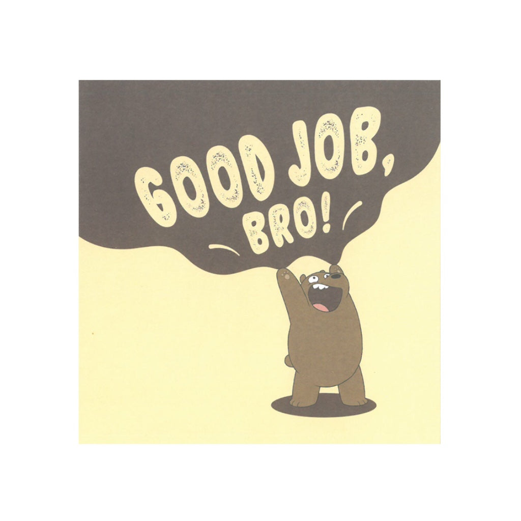 Good Job, Bro! Greeting Card - The Bare Bears
