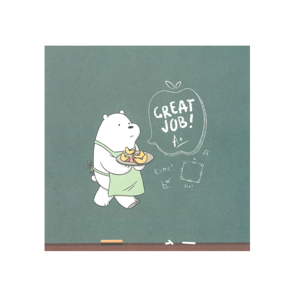 Great Job! Greeting Card - The Bare Bears
