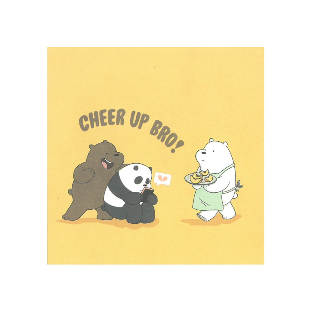 Cheer Up, Bro! Greeting Card - The Bare Bears