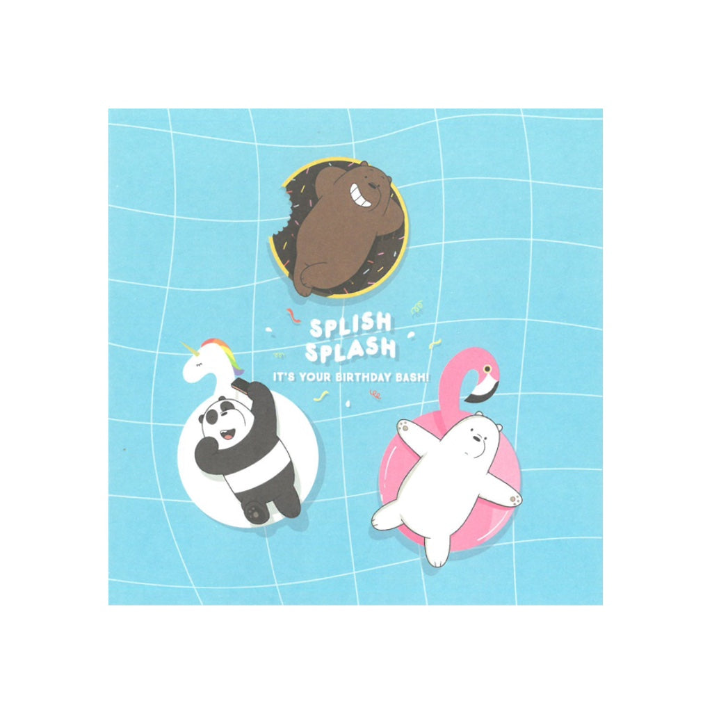 Splish Splash Greeting Card - The Bare Bears