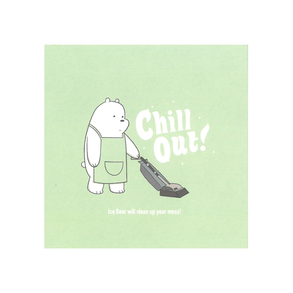 Chill Out! Greeting Card - The Bare Bears