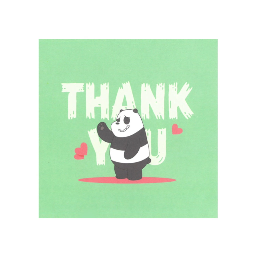 Panda Thank You Greeting Card - The Bare Bears