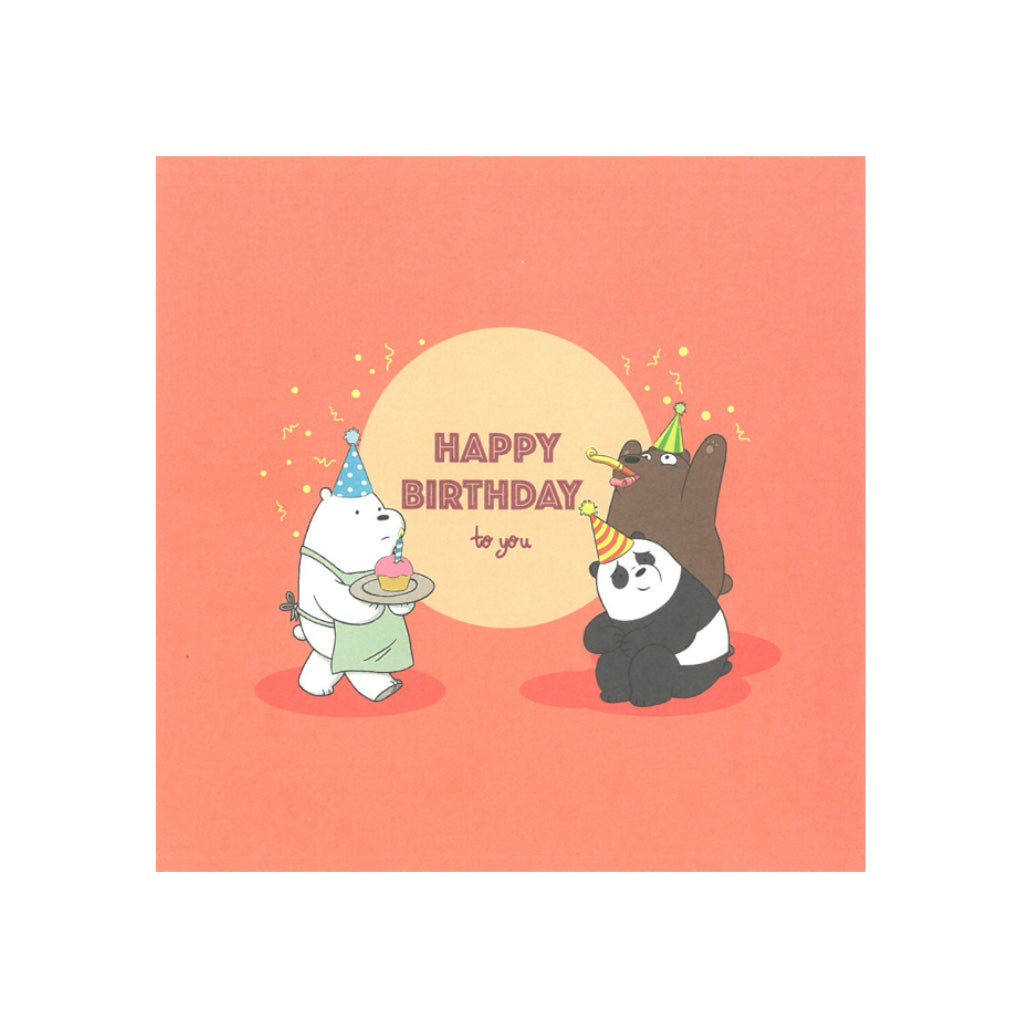 Happy Birthday to You Greeting Card - The Bare Bears