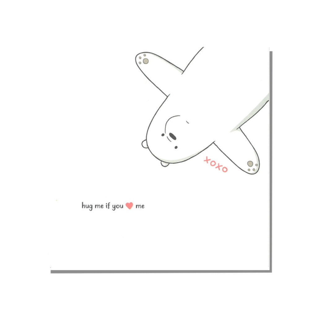 Hug Me Greeting Card - The Bare Bears