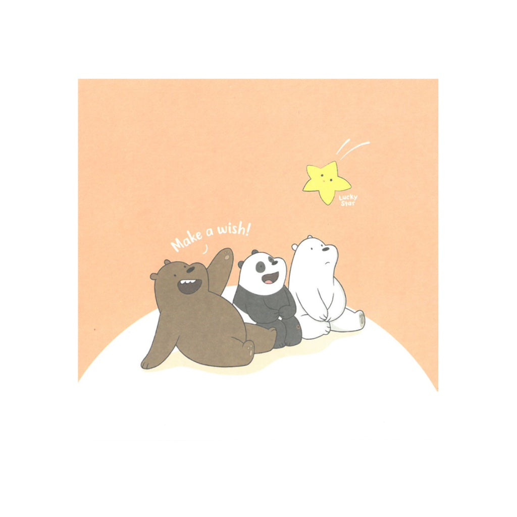 Make a Wish Greeting Card - The Bare Bears