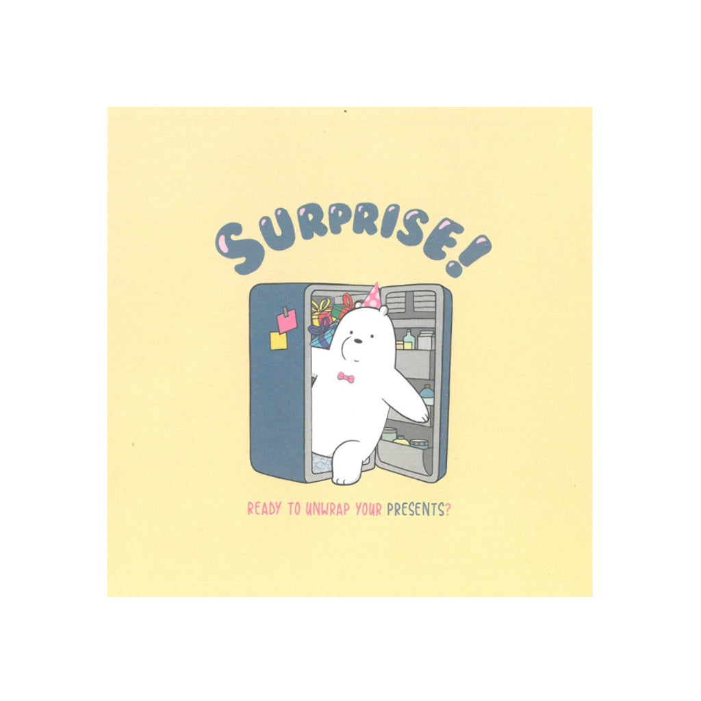 Surprise! Greeting Card - The Bare Bears