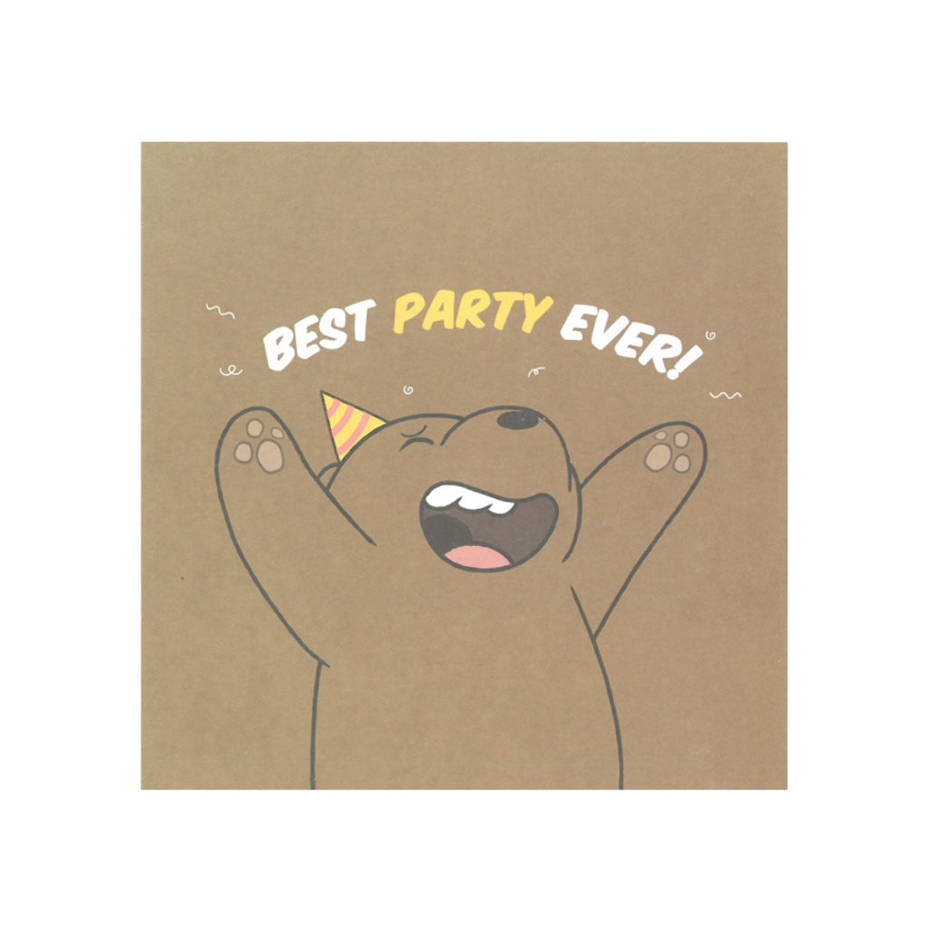 Best Party Ever Greeting Card - The Bare Bears