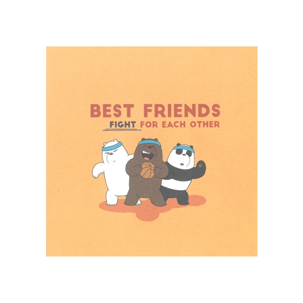 Best Friends Fight for Each Other Greeting Card - The Bare Bears