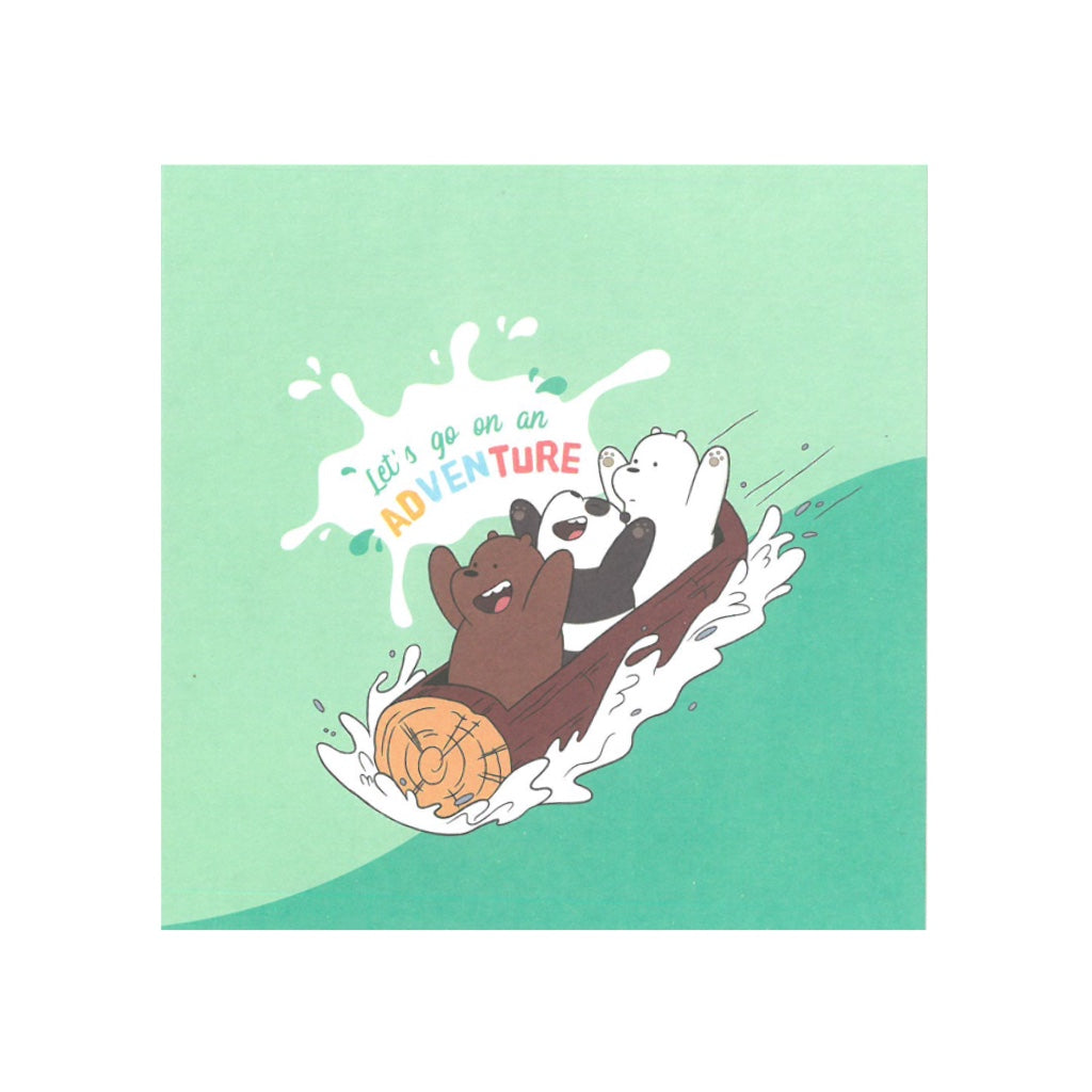 Let's Go On An Adventure Greeting Card - The Bare Bears