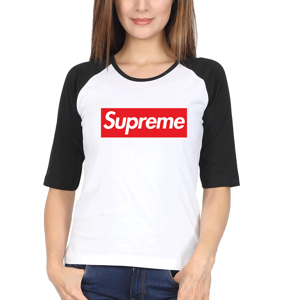 Supreme Full Sleeves Raglan T-Shirt for Women