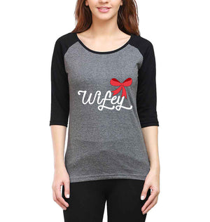 Wifey Full Sleeves Raglan T-Shirt for Women