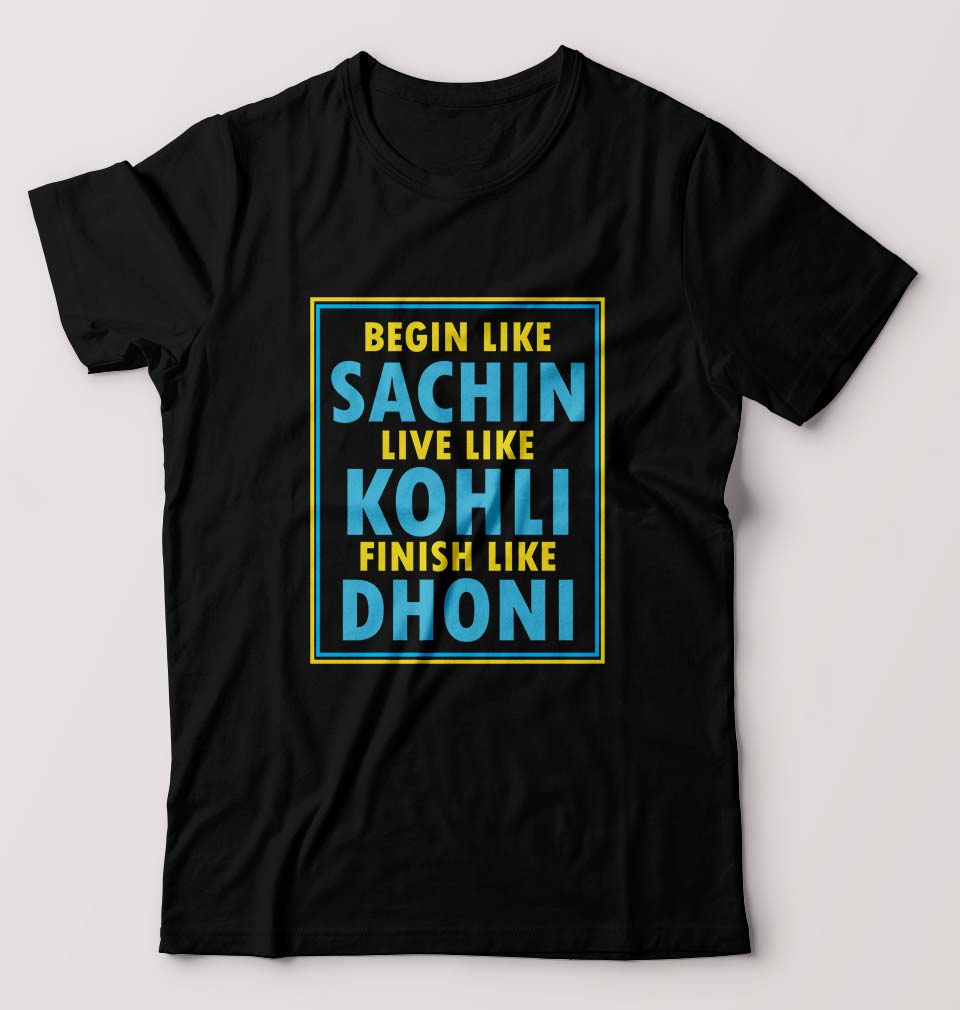 CRICKET Sachin Kohli Dhoni T-Shirt for Men