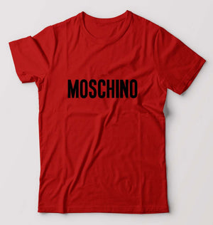 Moschino T-Shirt For Men-M(40 Inches)-Red-ektarfa.com