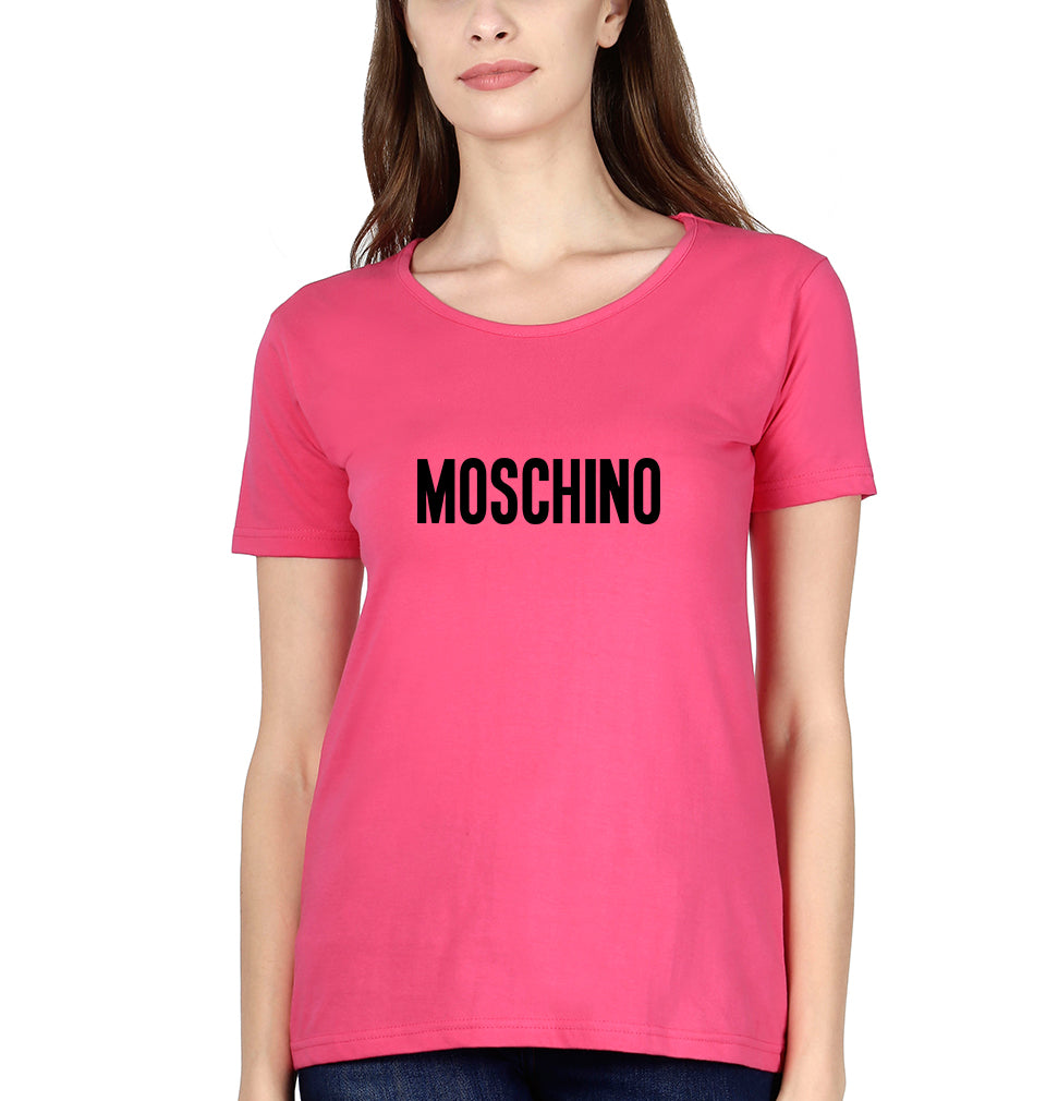 Moschino T-Shirt for Women-XS(32 Inches)-Pink-ektarfa.com