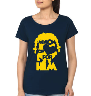Minion Love Half Sleeves T-Shirt for Women