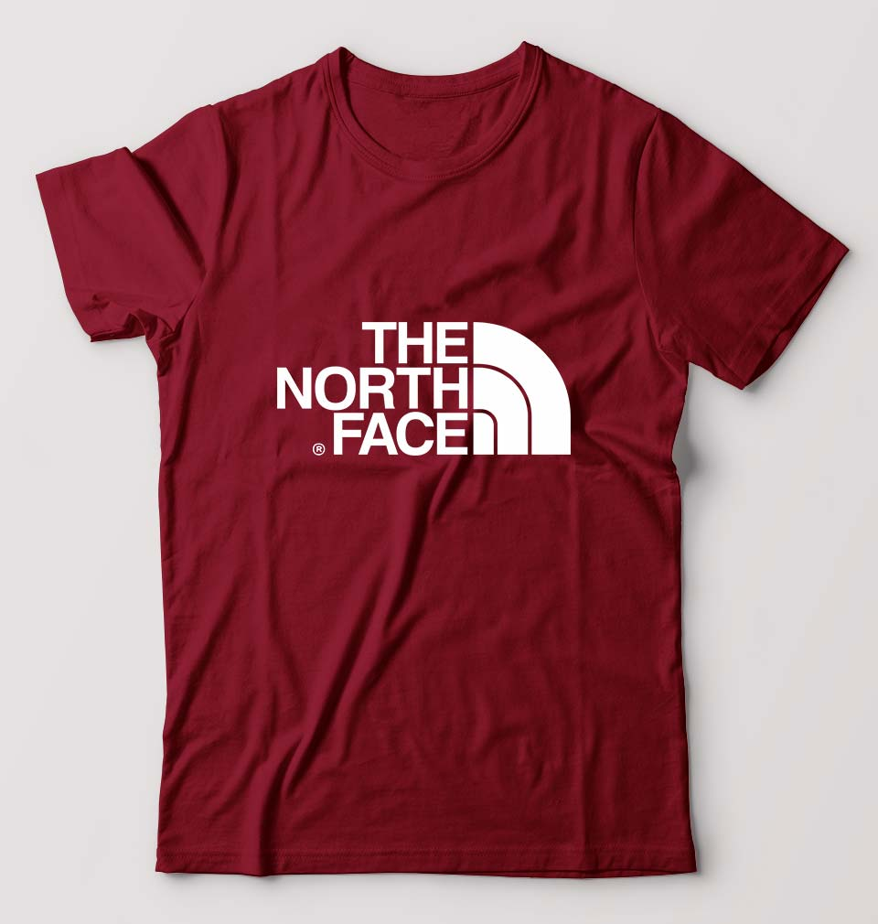 The North Face T-Shirt For Men-M(40 Inches)-Maroon-ektarfa.com
