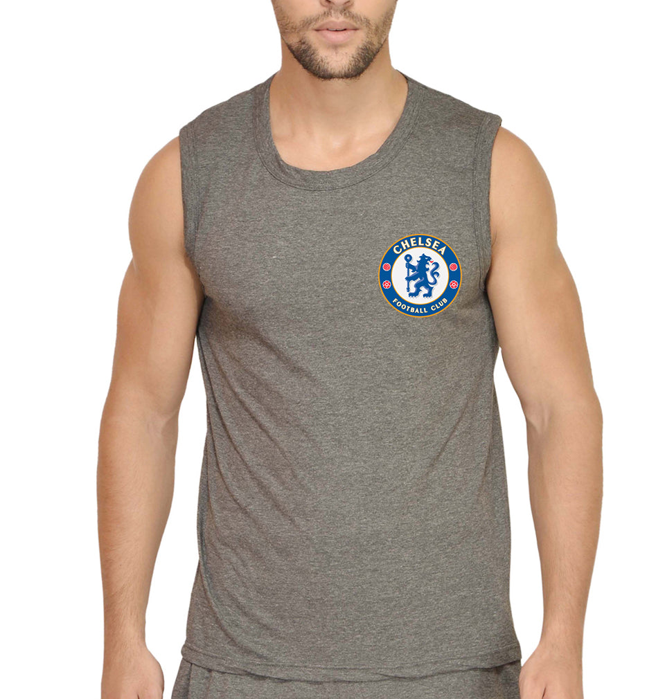 Chelsea Logo Sleeveless T-Shirt for Men