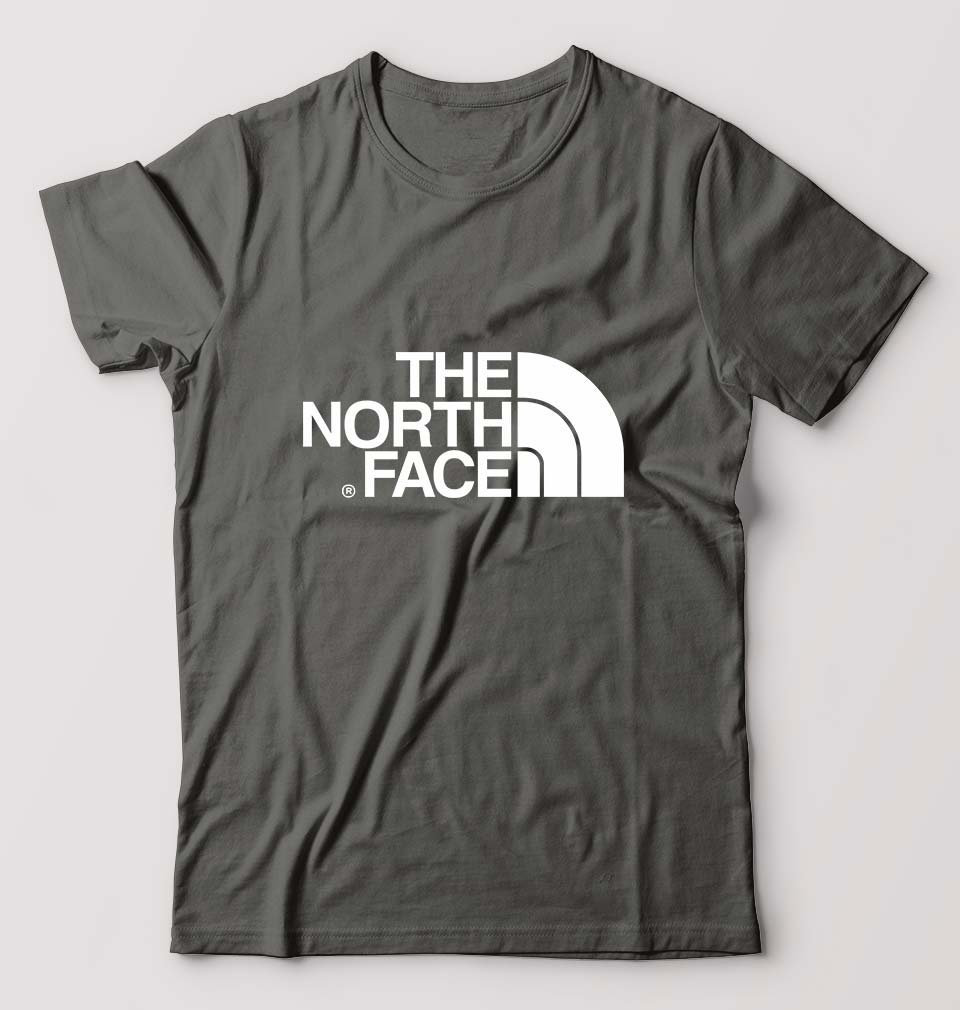 The North Face T-Shirt For Men-M(40 Inches)-Charcoal-ektarfa.com