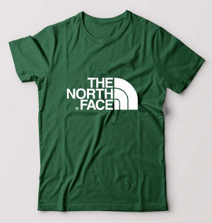 The North Face T-Shirt For Men-M(40 Inches)-Dark Green-ektarfa.com