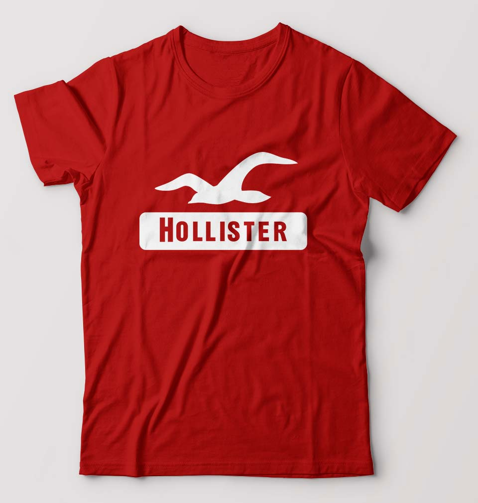 Hollister T-Shirt for Men-S(38 Inches)-Red-ektarfa.com
