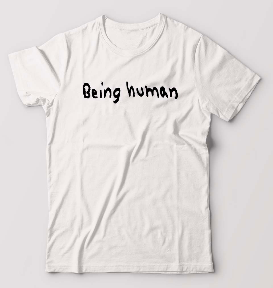 Being Human T-Shirt for Men-S(38 Inches)-White-ektarfa.com