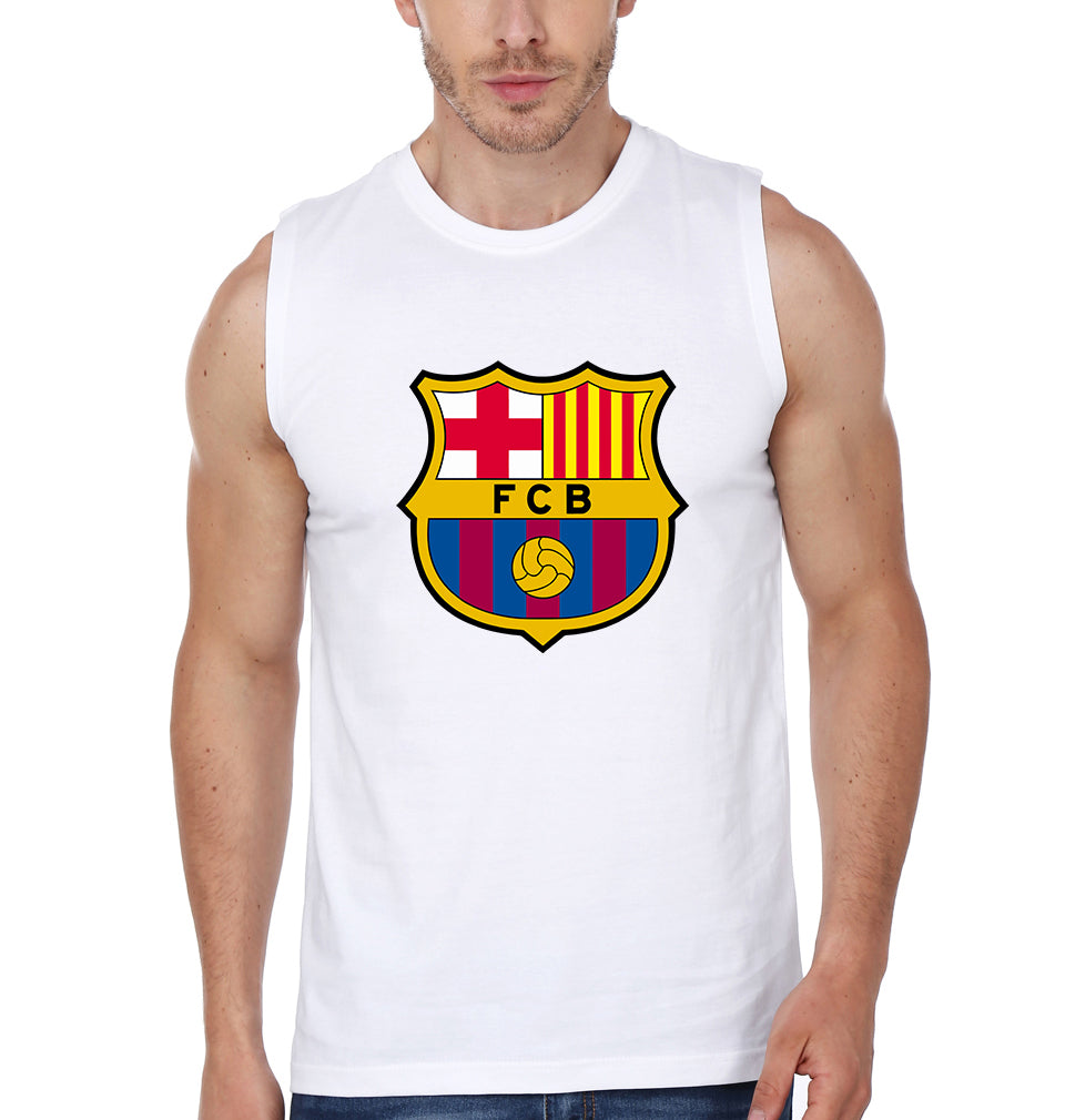 Barcelona Sleeveless T-Shirt for Men