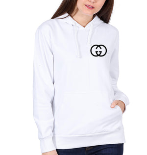 Gucci Logo Hoodie for Women-S(40 Inches)-White-ektarfa.com