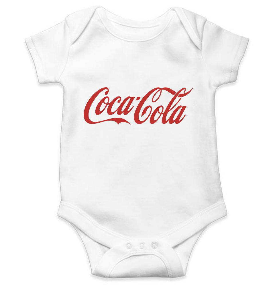 Coca Cola Romper For Baby Boy-0-5 Months(18 Inches)-White-ektarfa.com