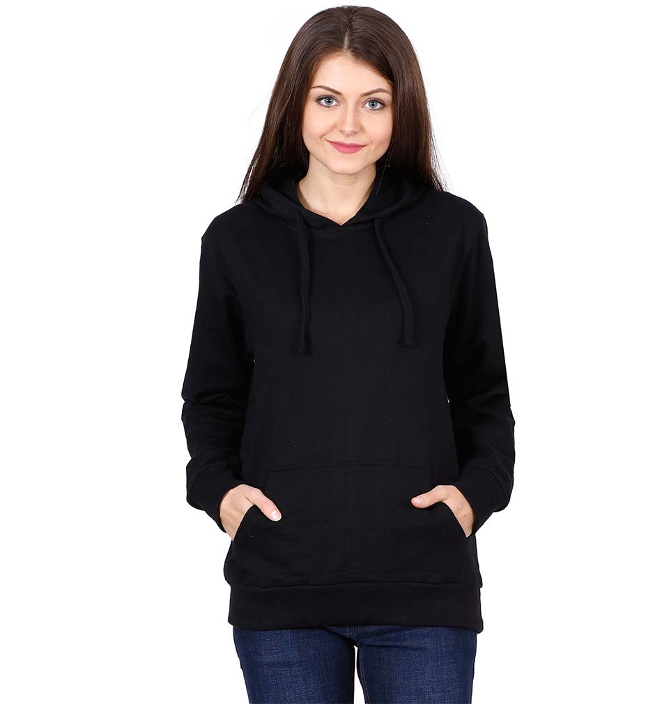 Plain Black Hoodie Sweatshirt for Women