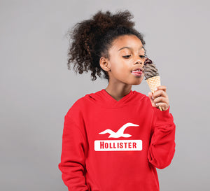 Hollister Hoodie for Girl-0-1 Year(22 Inches)-Red-ektarfa.com