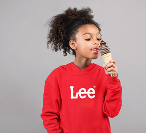Lee Hoodie for Girl-0-1 Year(22 Inches)-Red-ektarfa.com