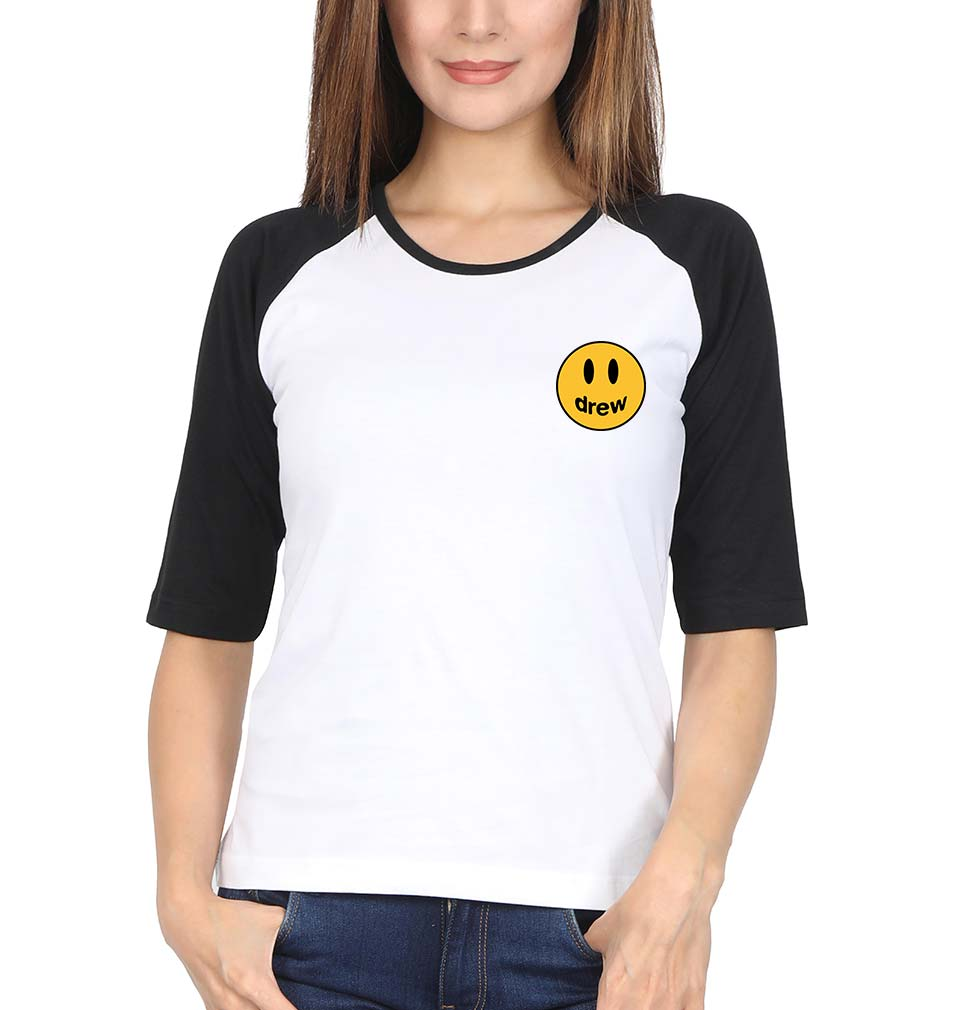 Drew House Logo Full Sleeves Raglan T-Shirt for Women
