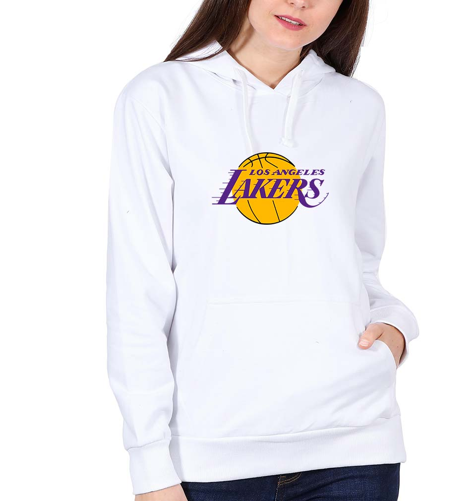 Los Angeles Lakers Hoodie for Women-S(40 Inches)-White-ektarfa.com