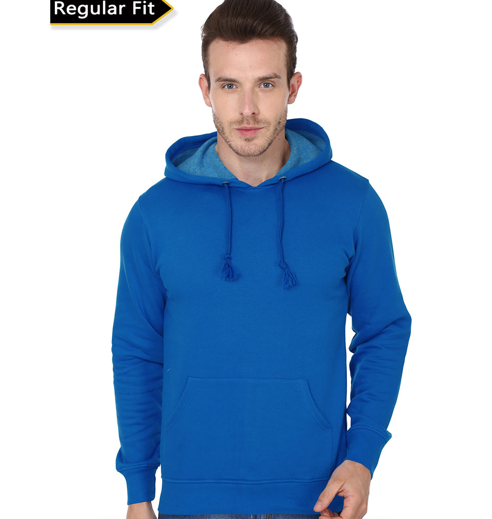 Plain Royal Blue Hoodie Sweatshirt For Men