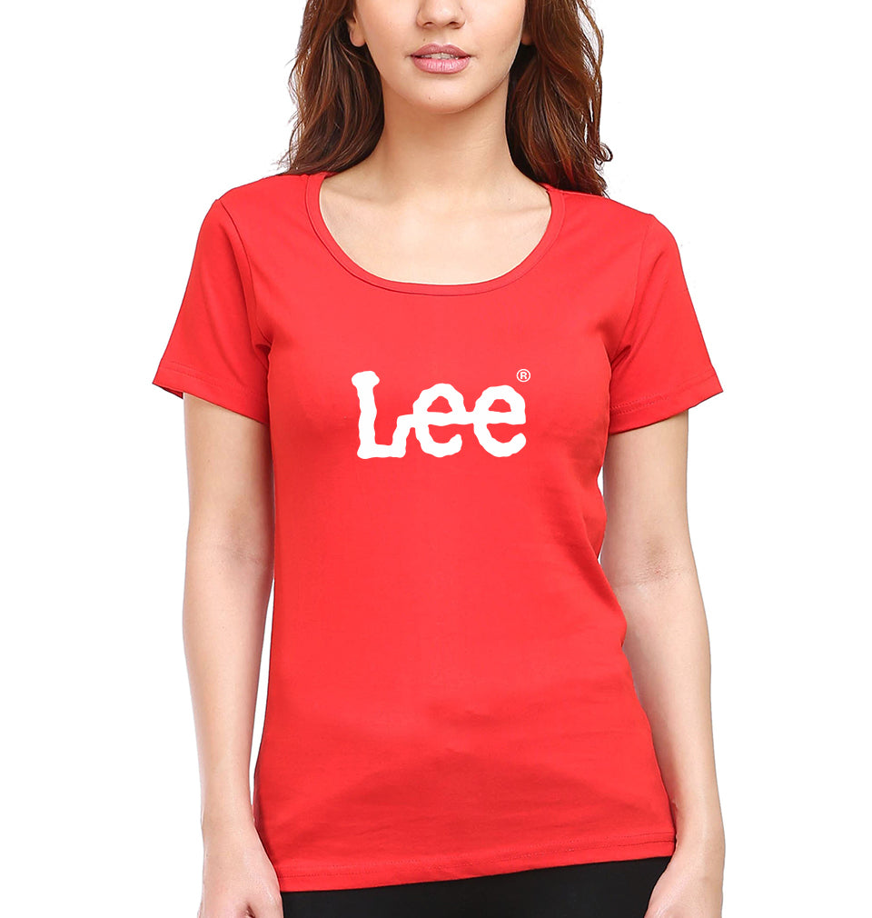 Lee T-Shirt for Women-XS(32 Inches)-Red-ektarfa.com