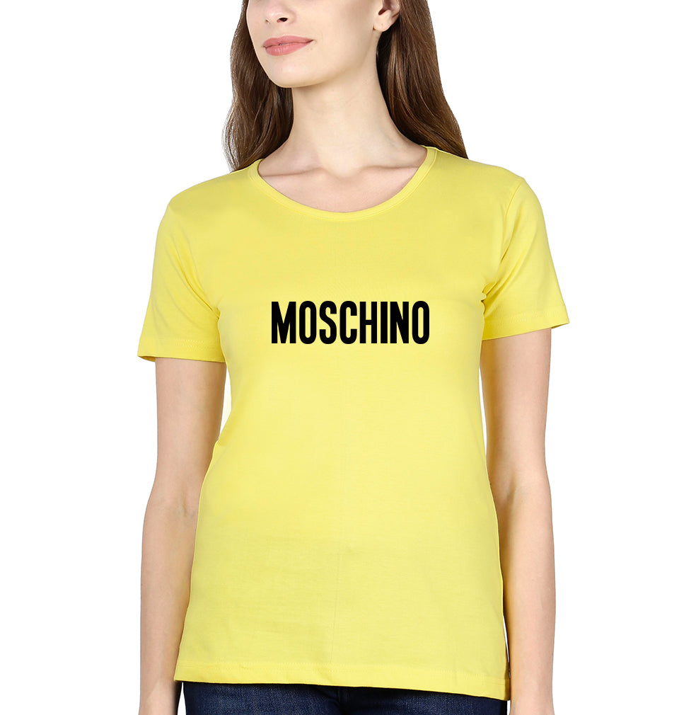 Moschino T-Shirt for Women-XS(32 Inches)-Yellow-ektarfa.com
