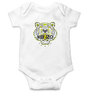 Kenzo Paris Romper For Baby Boy-0-5 Months(18 Inches)-White-ektarfa.com