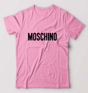 Moschino T-Shirt For Men-M(40 Inches)-Light Pink-ektarfa.com