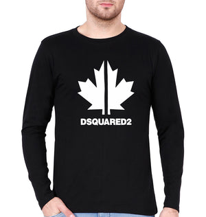 DSQUARED2 Full Sleeves T-Shirt for Men-S(38 Inches)-Black-ektarfa.com