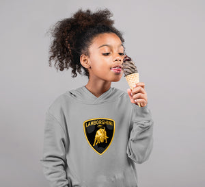 Lamborghini Hoodie for Girl-0-1 Year(22 Inches)-Grey-ektarfa.com